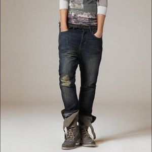 All Saints Aubert Kick Distressed Boyfriend Jeans
